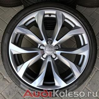 Диски колесные оригинальные Ауди антрациты 4G0601025G с летними шинами R20 255/35 для Audi A6 C7 главное фото