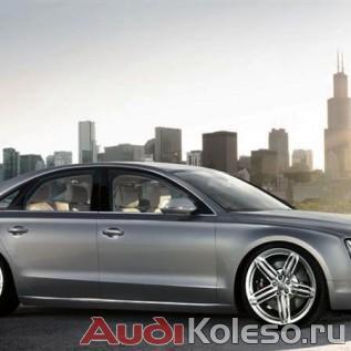 Оригинальные колесные диски Ауди R20 4h0601025bf на серой Audi A8 D4 4H