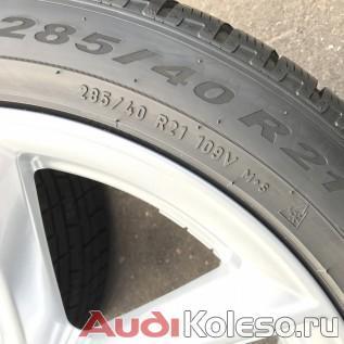 Колеса зимние оригинальные R21 285/40 Audi Q7 4M 4M0601025S размерность шин