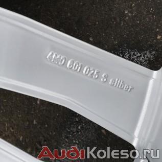 Колеса зимние оригинальные R21 285/40 Audi Q7 4M 4M0601025S оригинальный номер серебристого оригинального диска
