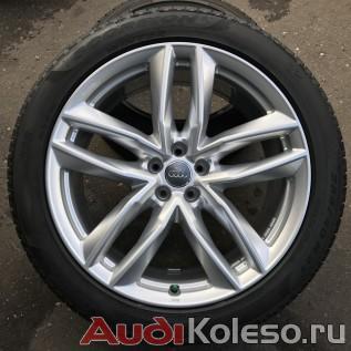 Колеса зимние оригинальные R21 285/40 Audi Q7 4M 4M0601025S главное фото лицевой части оригинального диска и шины