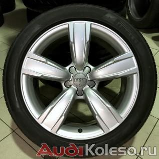 Оригинальные литые диски audi a4 allroad r18 с летними шинами пирелли пзеро - главное фото